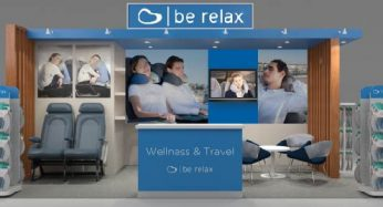 Be Relax stand at Taxe free world association TFWA Asia pacific exhibition & conference