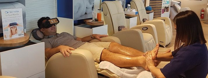 Be Relax Dubai Virtual Reality + Foot Massage